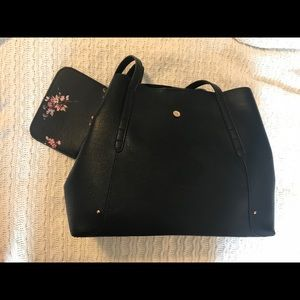 LC Lauren Conrad NWT Black City Tote with wallet